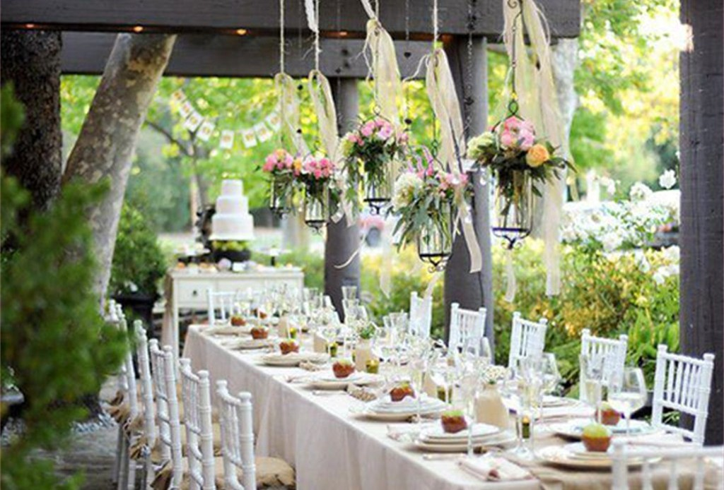 Image of: outdoor country wedding decoration ideas
