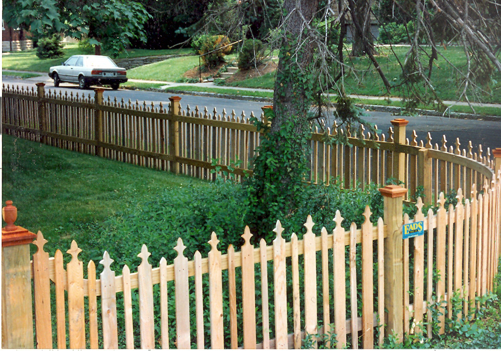 Image of: picket fence design
