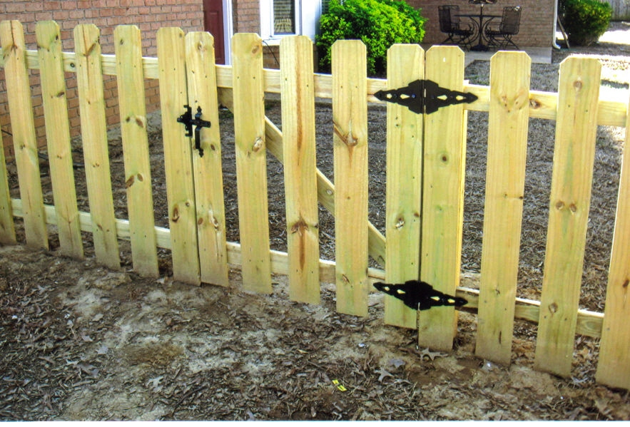 Image of: picket fence gate design
