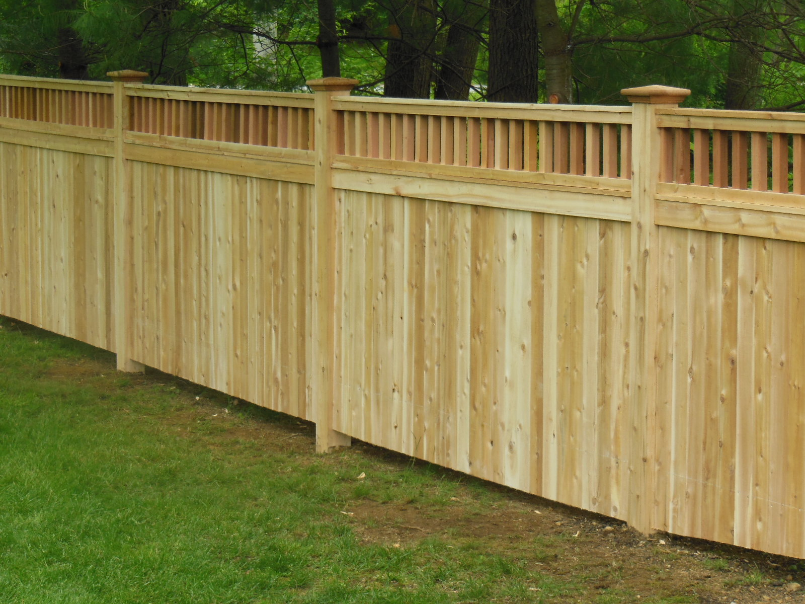 Image of: privacy fence design