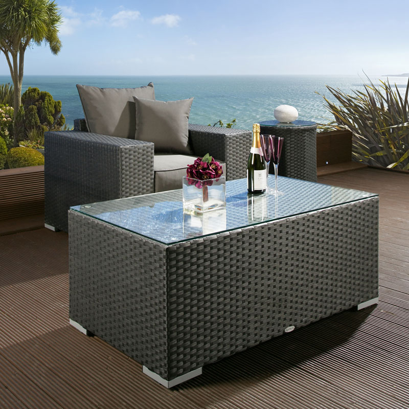 Image of: rattan coffee table trunk