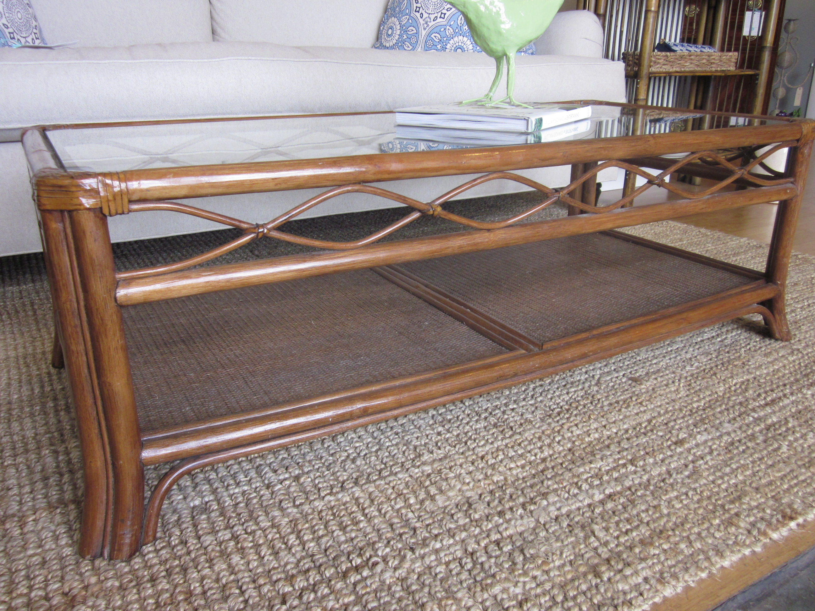 Image of: rattan coffee table with storage