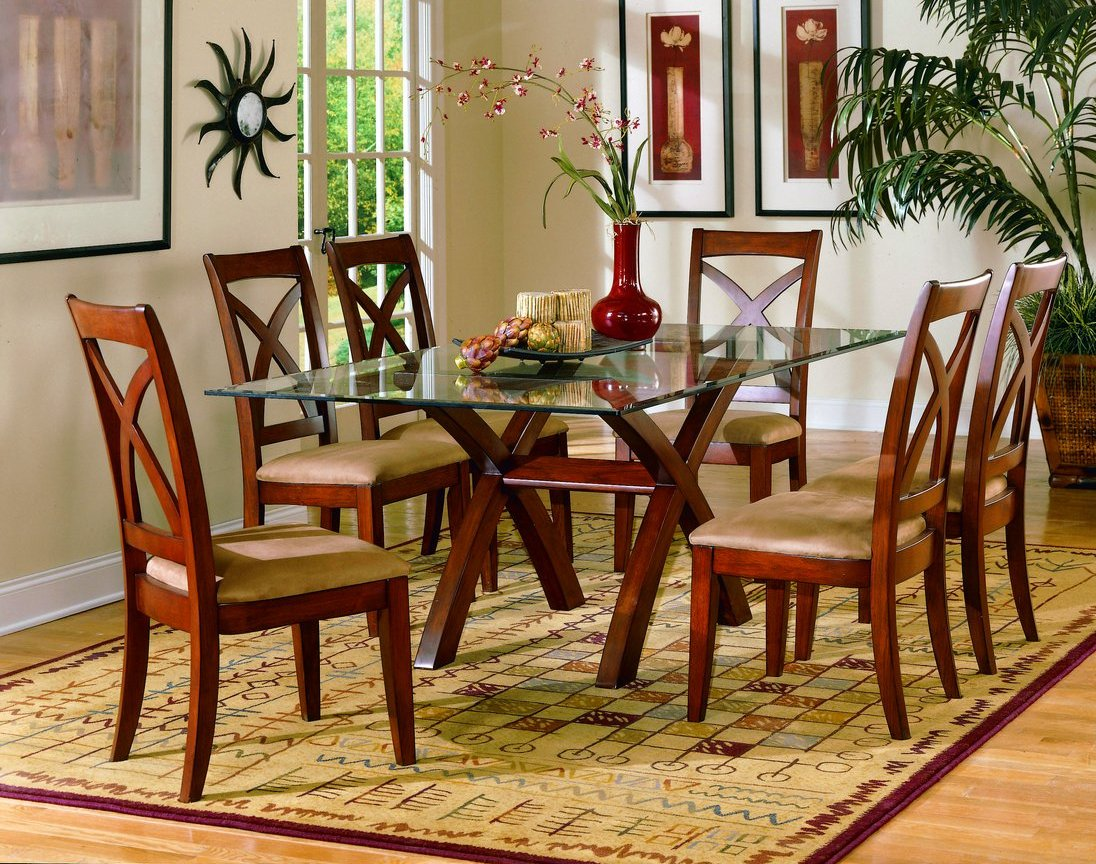 Image of: rectangle glass dining room tables