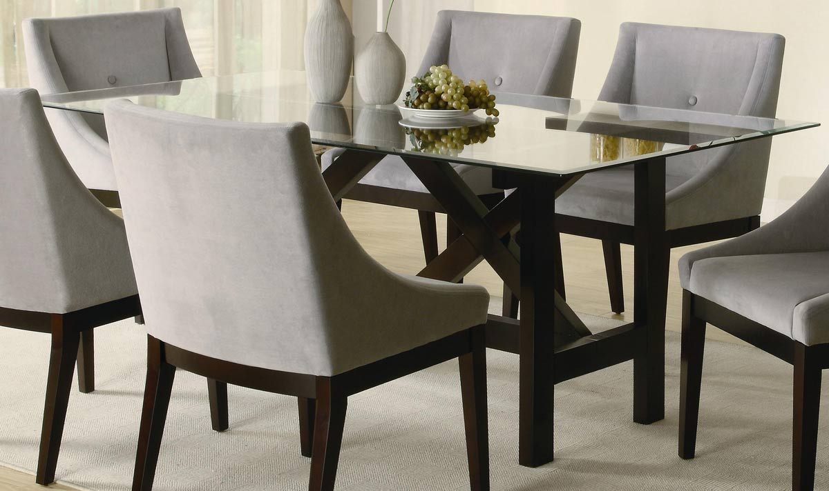rectangle glass dining table