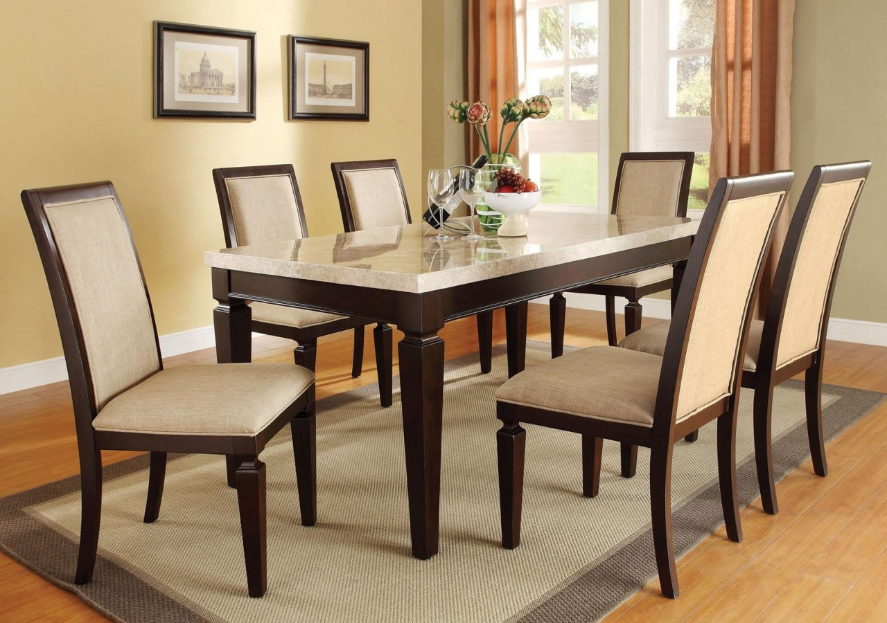 Image of: rectangle wood dining table