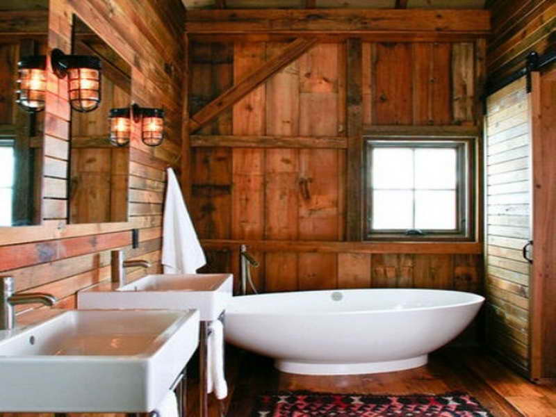 Image of: rustic bathroom decor diy