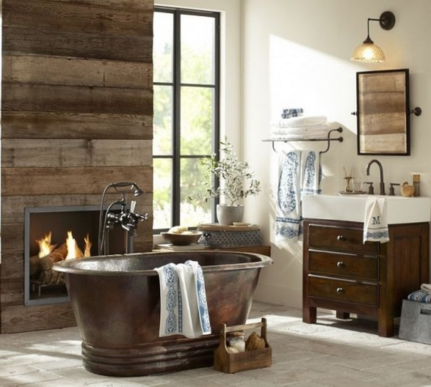 Image of: rustic bathroom decor uk
