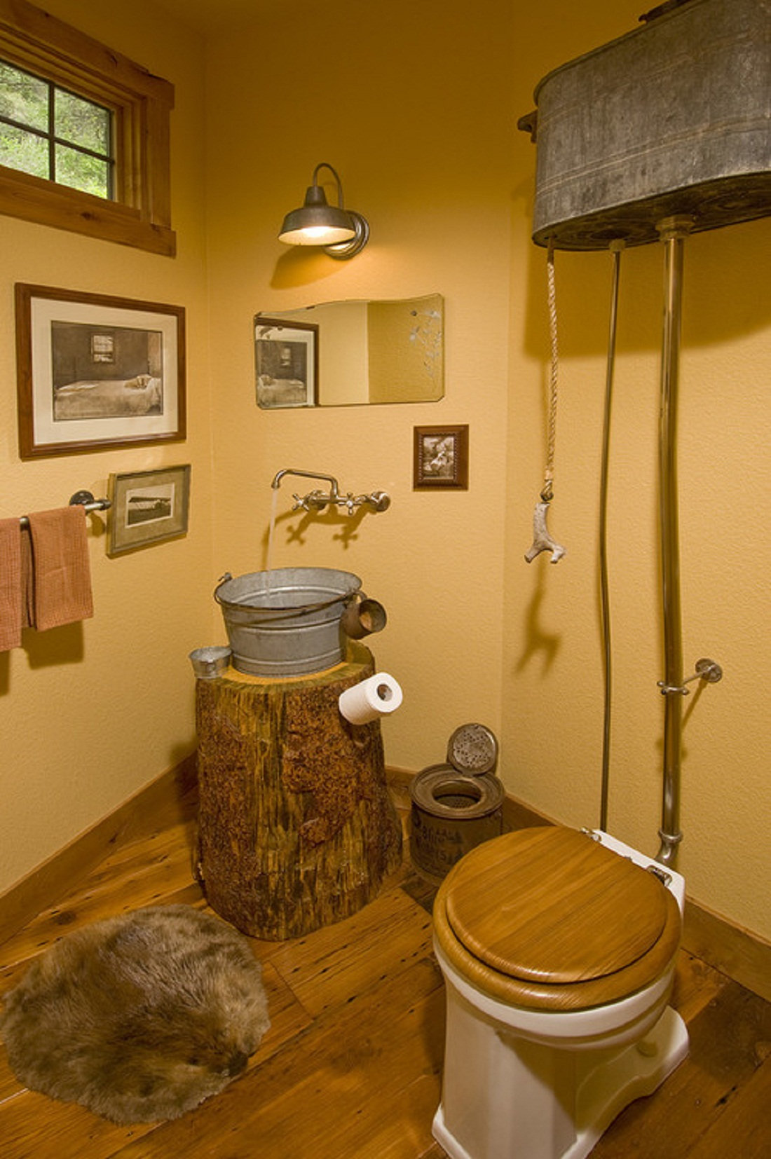 Image of: rustic bathroom decor