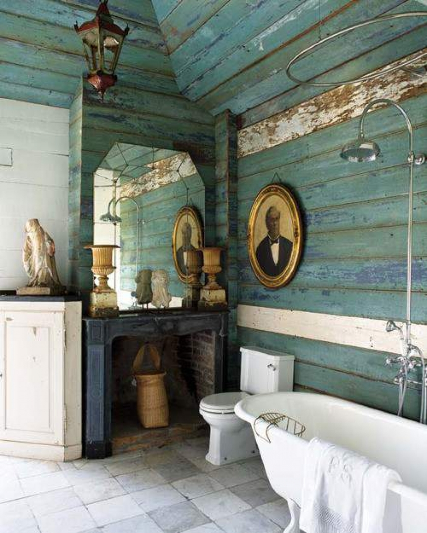 Image of: rustic bathroom wall decor uk