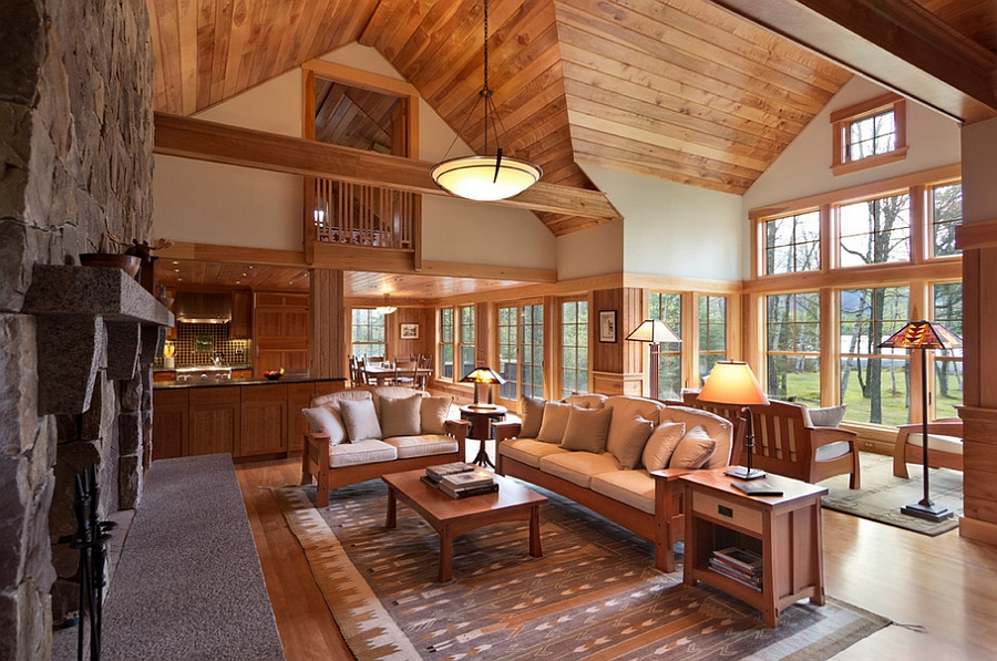 Image of: rustic cabin home decor