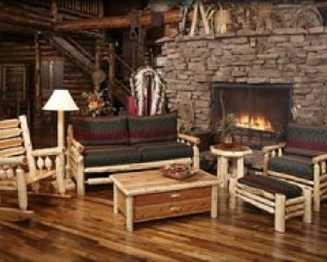 Image of: rustic cabin wall decor