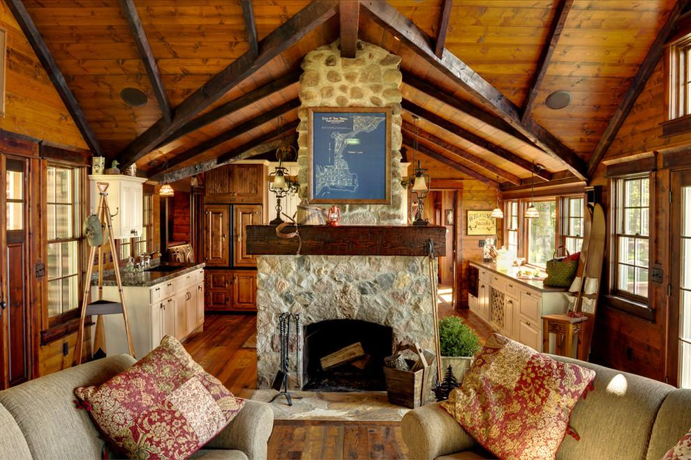 Image of: rustic log cabin decor