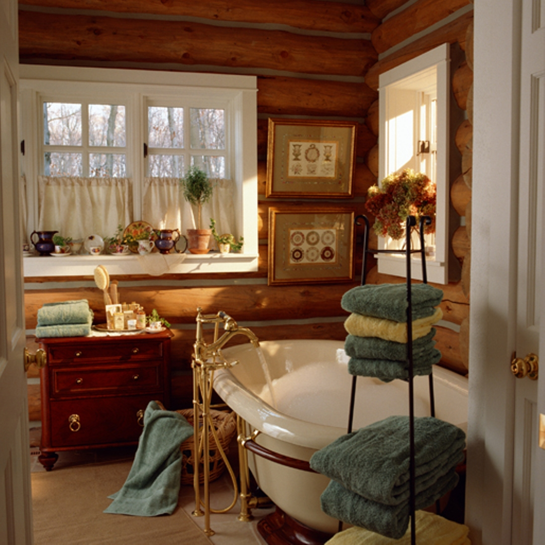 Image of: rustic star bathroom decor
