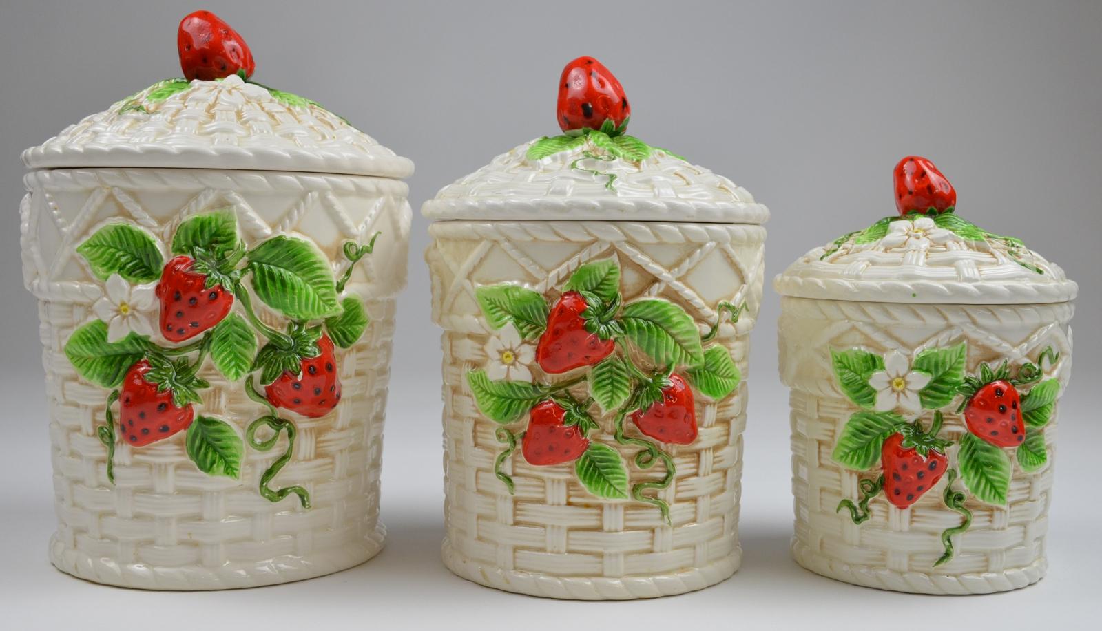 Image of: strawberry kitchen decor sets