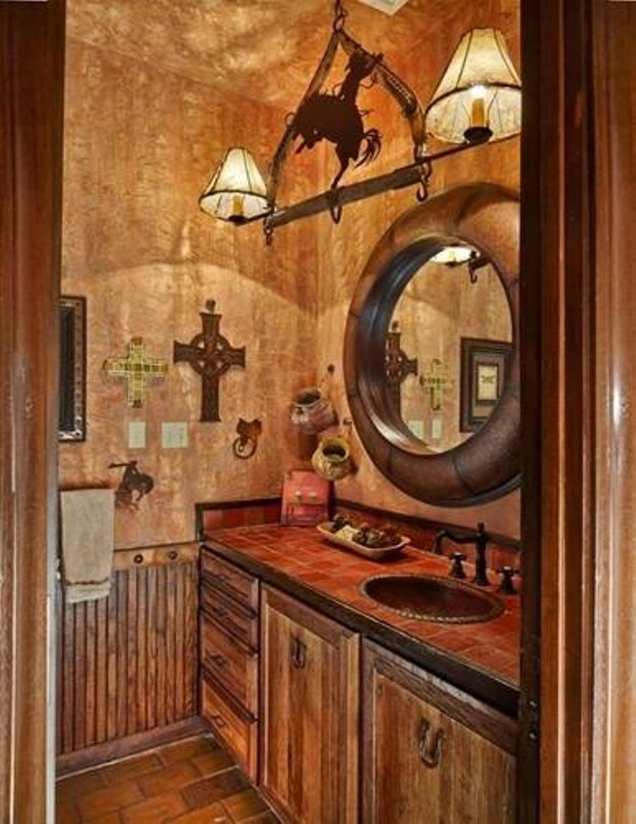 Image of: western decor bathroom