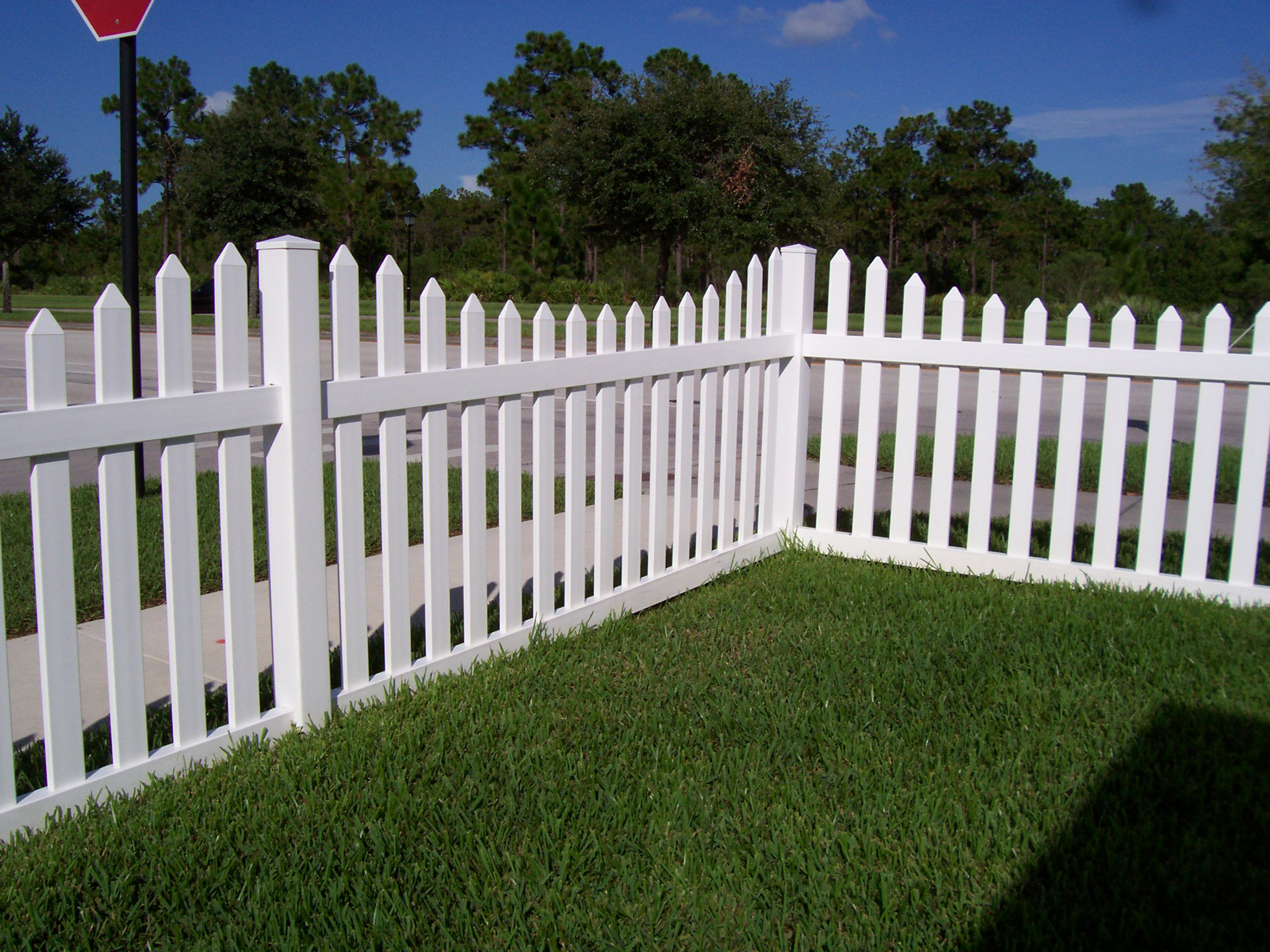 Image of: white picket fence designs