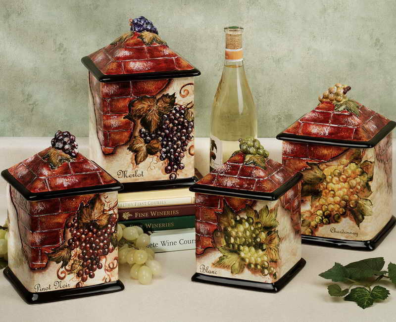 Image of: wine kitchen decor sets