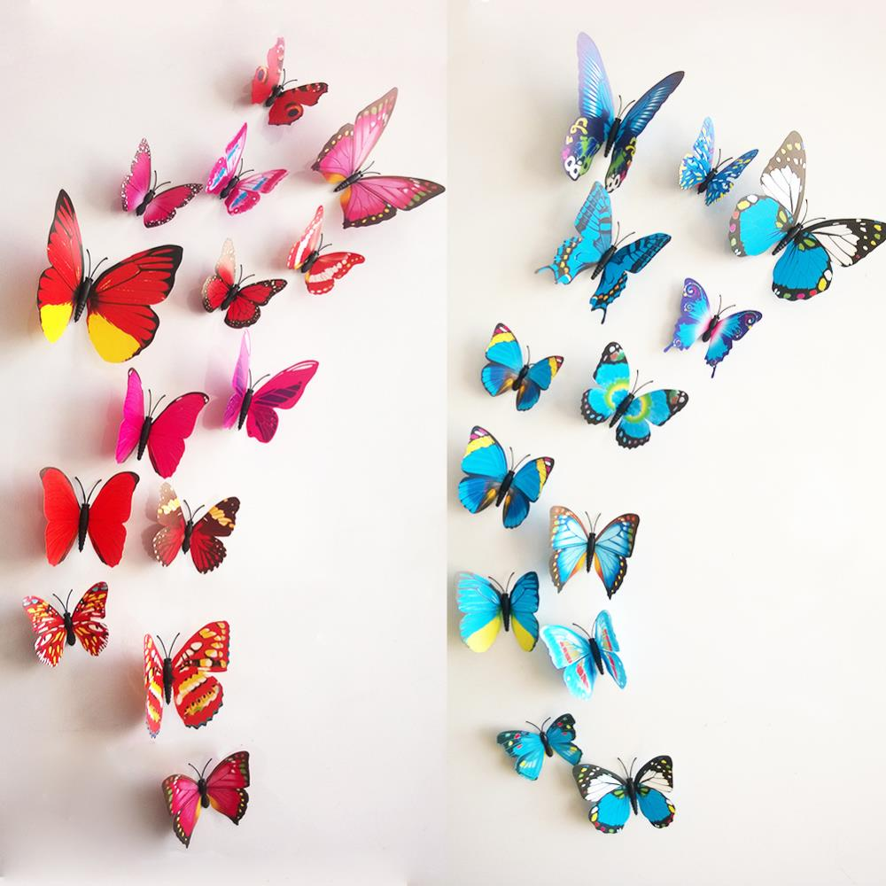 Image of: 3d butterfly wall decor
