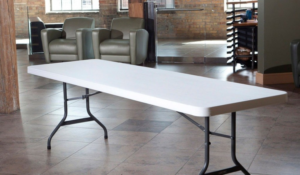Image of: 8 foot folding table