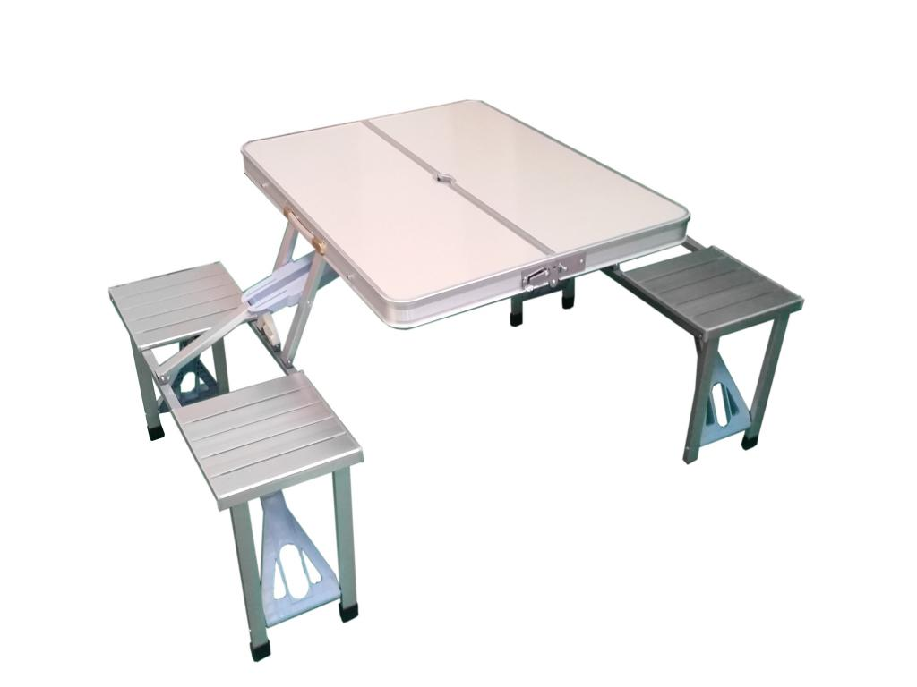 Image of: Aluminum Folding Table Set