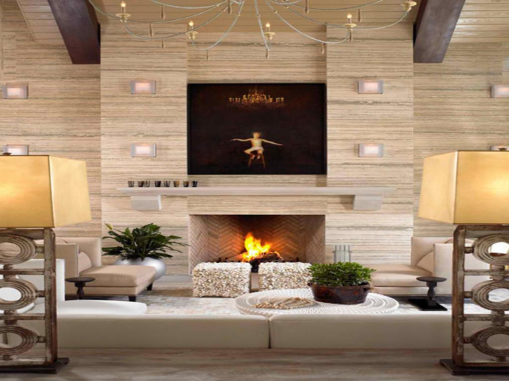 Image of: Contemporary Fireplace Designs With Tv