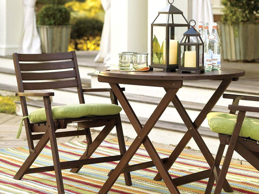 Image of: Folding Patio Table And Chair Set