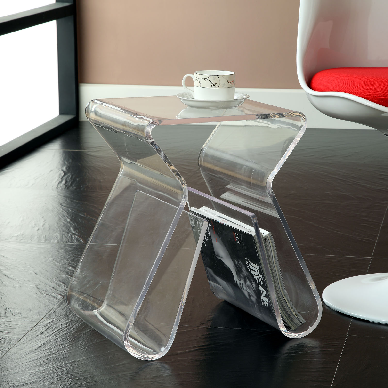 acrylic trunk coffee table