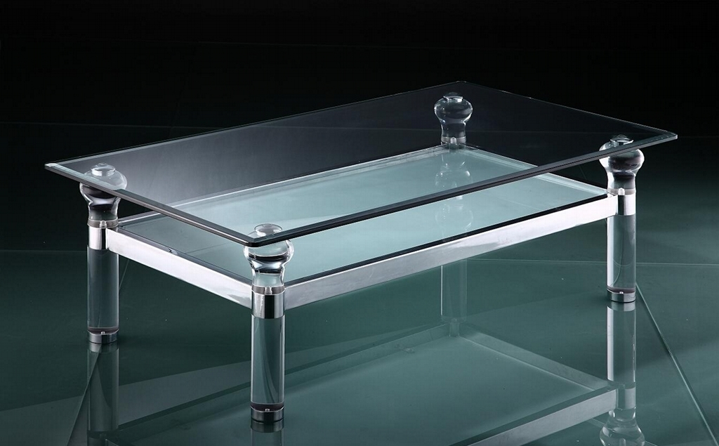 Image of: acrylic waterfall coffee table