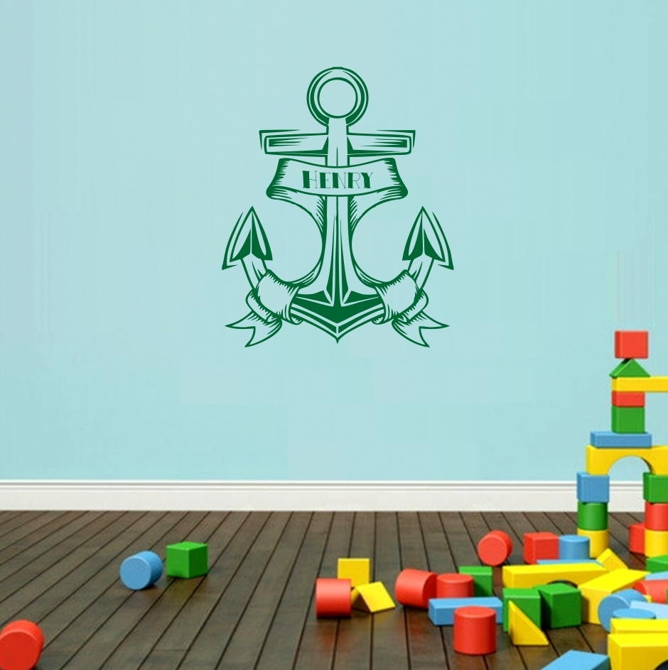 anchor wall decor for nursery