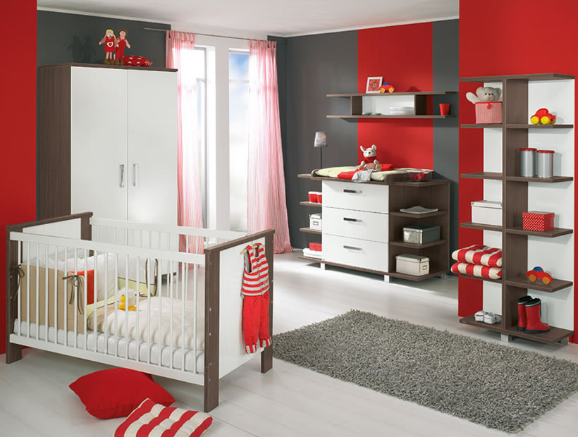 Image of: baby room decorating ideas red