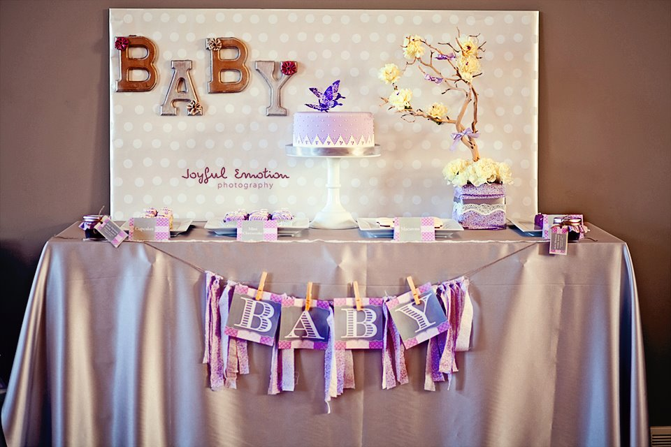 Image of: baby shower dessert table decorations