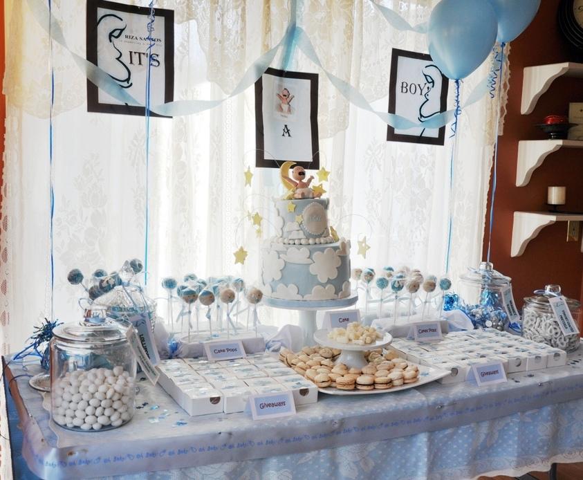 baby shower dessert table for boy