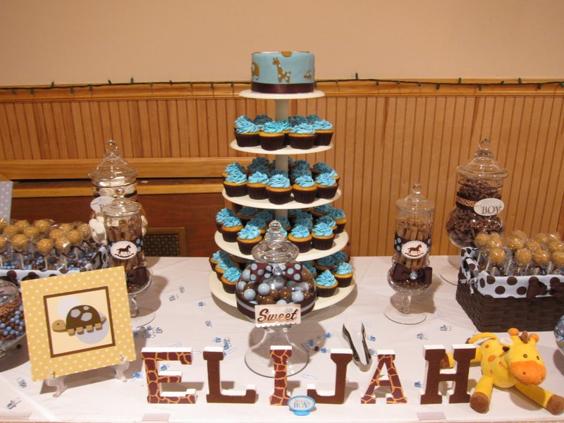 Image of: baby shower dessert table ideas