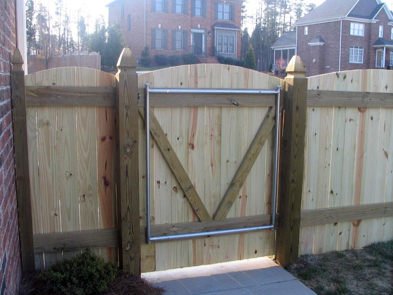 Image of: backyard wooden gate designs