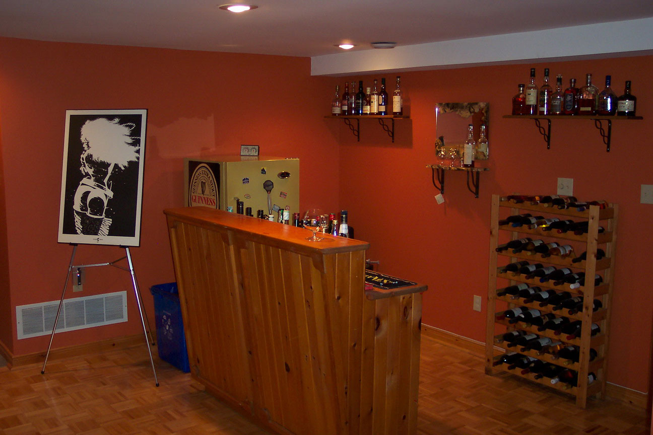 Image of: bar designs for basements