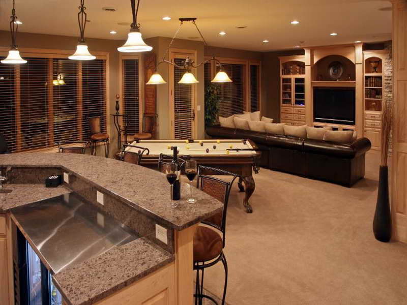 Image of: basement bar design ideas pictures