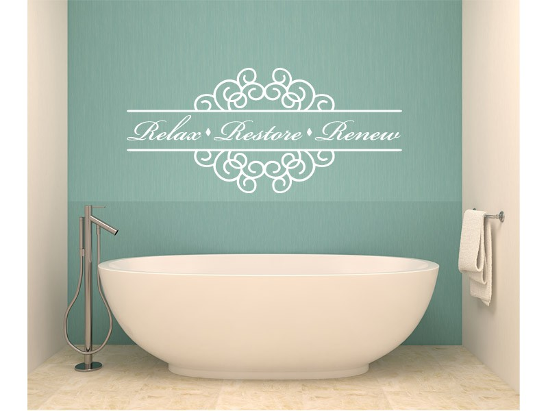 Image of: bathroom wall decor