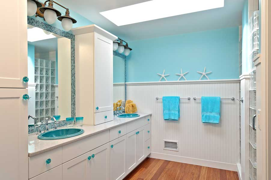 Image of: beach bathroom decor ideas