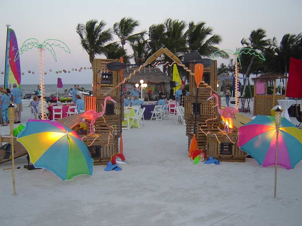 Image of: beach themed party decorations
