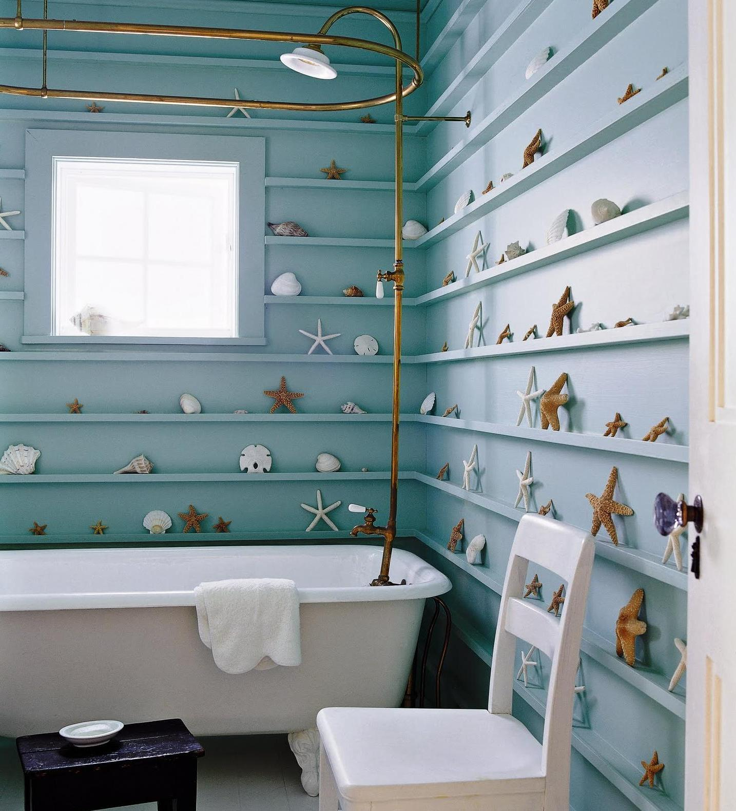 Image of: beach wall decor for bathroom