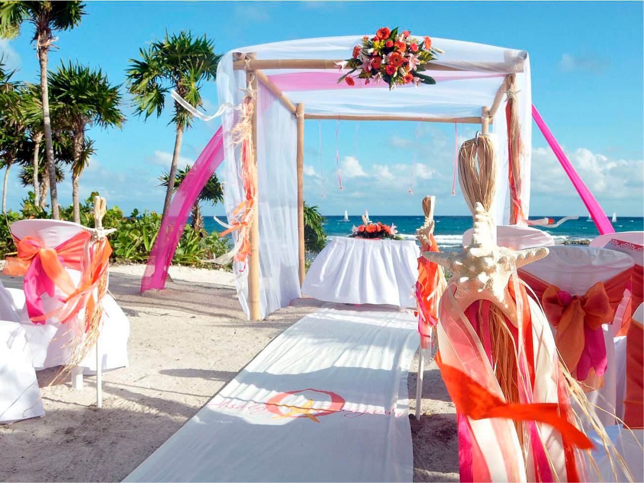 Image of: beach wedding decor