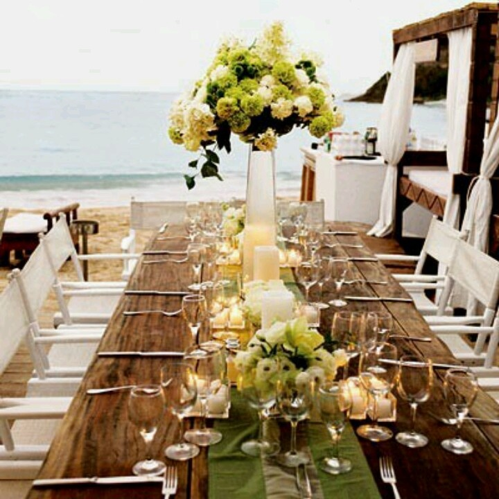 Image of: beach wedding reception decor