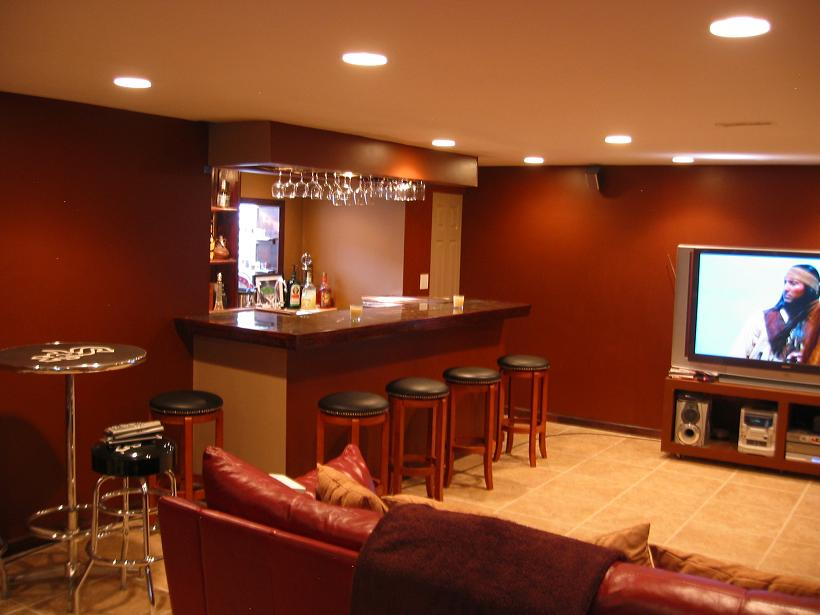 Image of: best basement bar designs