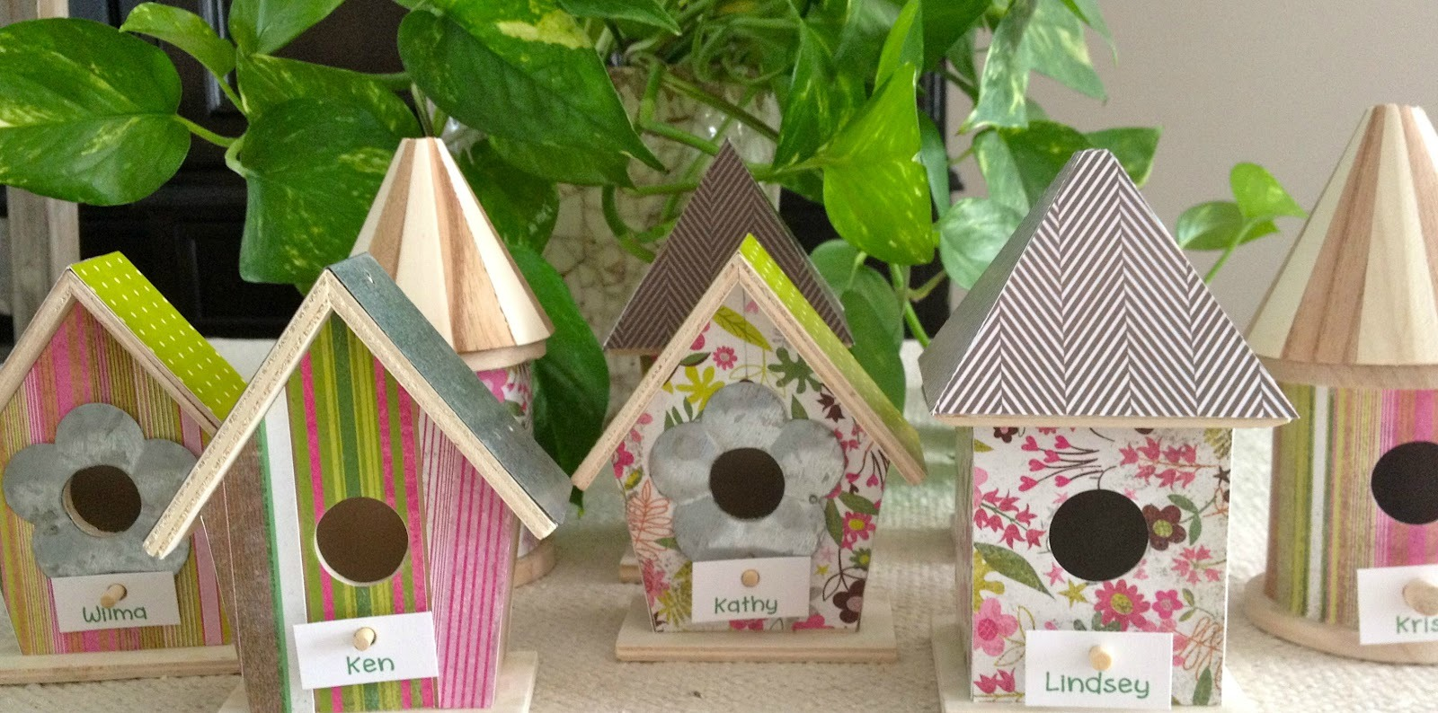 Image of: bird house decor
