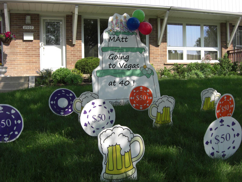 Image of: birthday lawn decorations