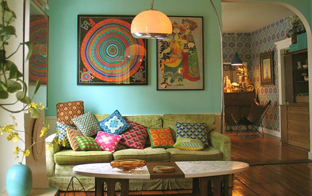 Image of: bohemian living room decor