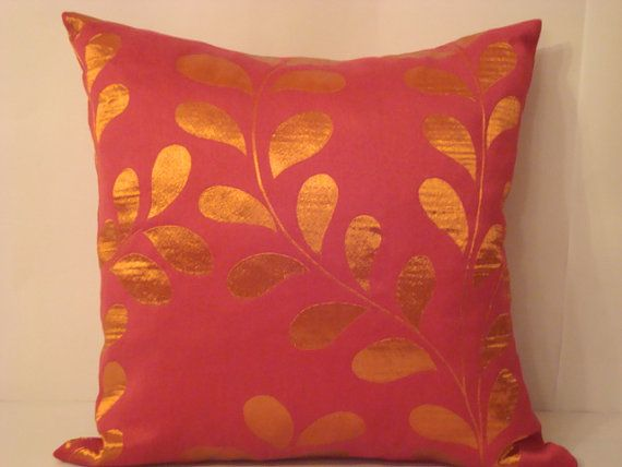 Image of: bright orange decorative pillows
