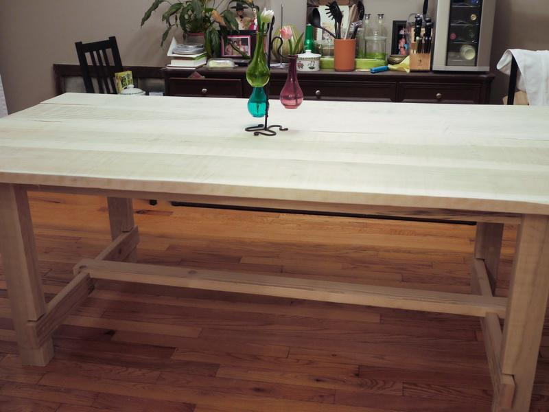Image of: butcher block dining table from ikea