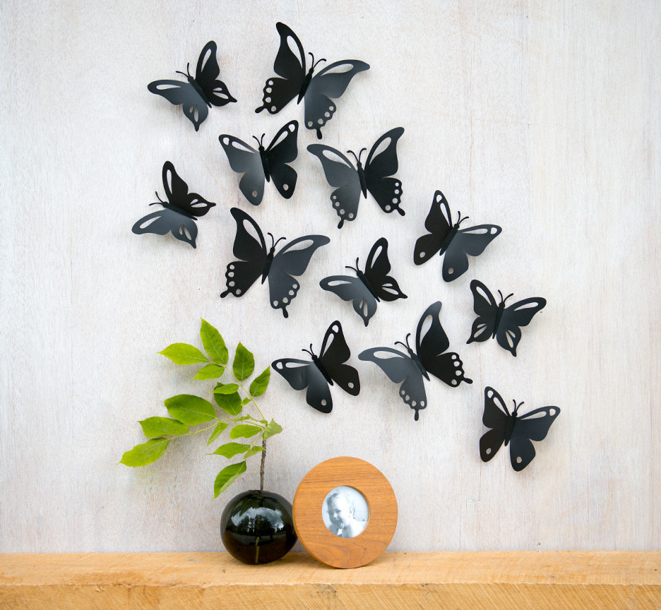 Image of: butterflies for wall decoration