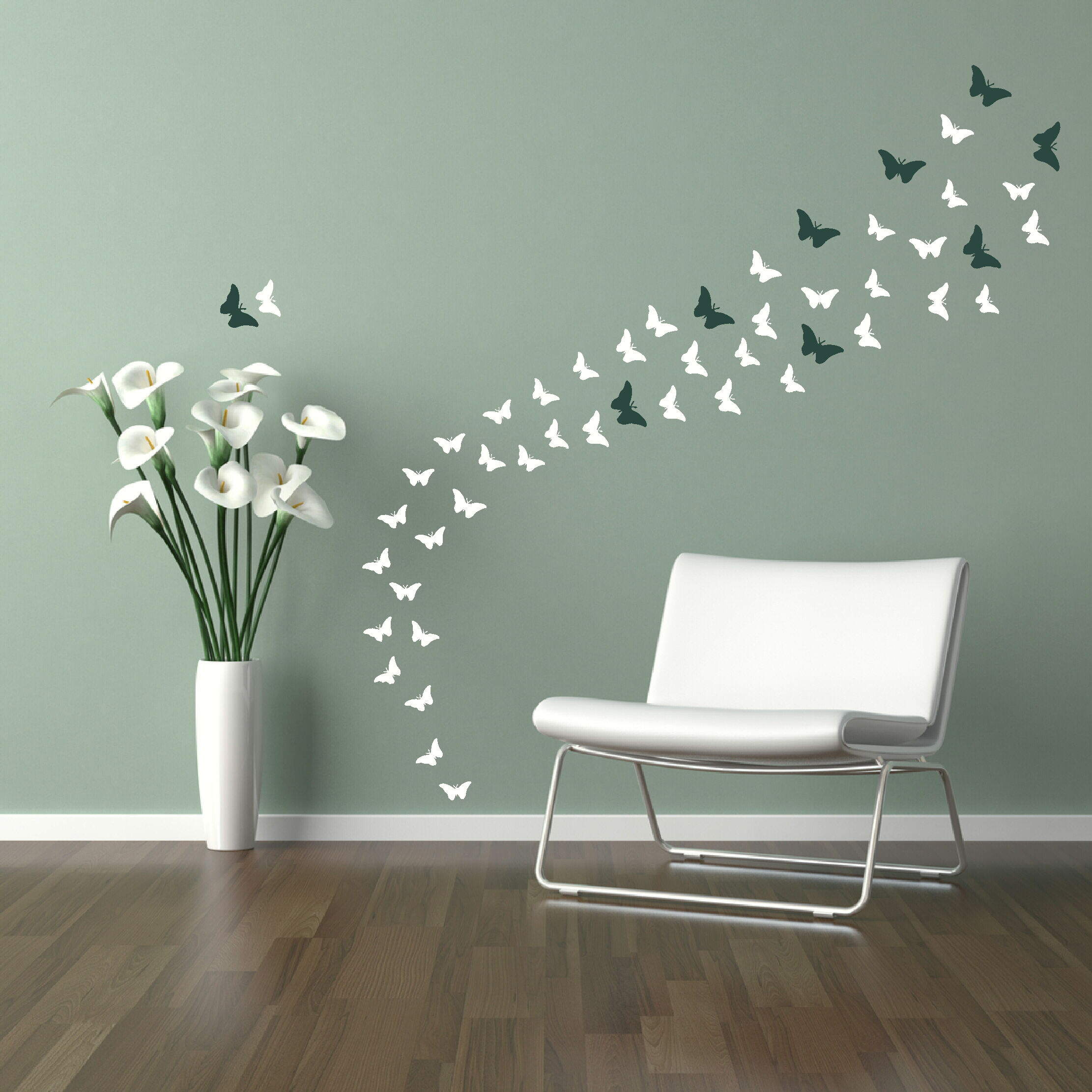 Image of: butterfly wall decoration